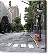 Beautiful Downtown Hoboken  Acrylic Print