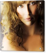 Beautiful Fashion Model Acrylic Print by Jorgo Photography - Wall Art Gallery