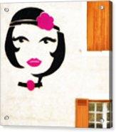 Beautiful French Woman Graffiti Acrylic Print