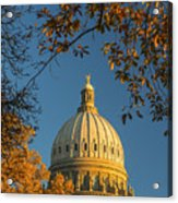 Beautiful Idaho State Capitol In Autumn Morning Acrylic Print