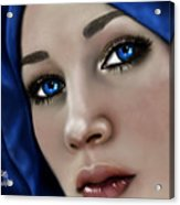 Beautiful In Blue Version 2 Acrylic Print