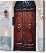 Viaje Beautiful Italian Door Volterre  Acrylic Print