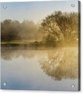 Beautiful Misty River Sunrise Acrylic Print