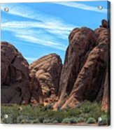 Beautiful Nature Landscape Valley Of Fire  Acrylic Print