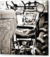 Beautiful Oliver Row Crop Old Tractor Acrylic Print by Marilyn Hunt