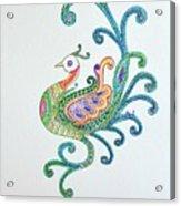 Beautiful Peacock Acrylic Print