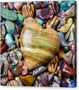 Beautiful Polished Colorful Stones Acrylic Print