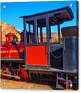 Beautiful Red Calico Train Acrylic Print