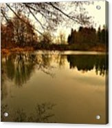 Beautiful Reflection In The Evening Hours Acrylic Print