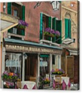 Beautiful Restaurant In Venice Acrylic Print by Charlotte Blanchard