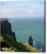 Beautiful Rocky Towering Sea Cliffs Along The Cliff's Of Moher Acrylic Print