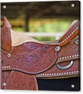 Beautiful Saddle Acrylic Print