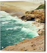 Beautiful Shore Of Nazare, Portugal Acrylic Print