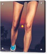 Beautiful Sportive Womens Legs Acrylic Print