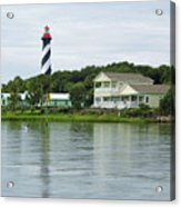 Beautiful St Augustine Lighthouse Waterfront Acrylic Print