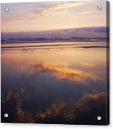 Beautiful Sunset Along Oregon Coast Acrylic Print