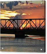 Beautiful Sunset Bridge  Acrylic Print