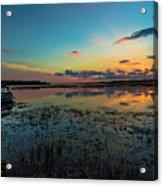 Beautiful Sunset By The Lake Acrylic Print
