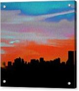 Beautiful Sunset Oil Paint Acrylic Print
