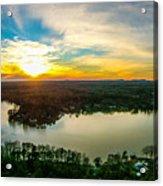 Beautiful Sunset Over Lake Wylie South Carolina Acrylic Print