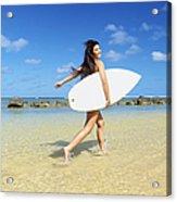 Beautiful Surfer Girl Acrylic Print