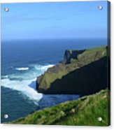 Beautiful Sweeping Views Of Ireland's Cliff's Of Moher Acrylic Print