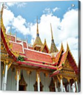 Beautiful Temple Acrylic Print by Somchai Suppalertporn