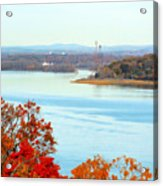 Beautiful View Of The Hudson River 1 Acrylic Print