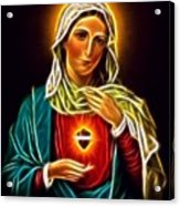 Beautiful Virgin Mary Sacred Heart Acrylic Print