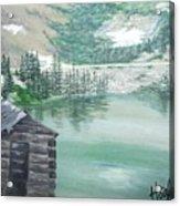 Beautiful Water Cabin Acrylic Print