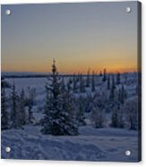 Beautiful Winter Sunrise Acrylic Print
