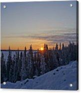 Beautiful Yellowknife Sunrise Acrylic Print