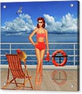 Beauty From The 50s In Bikini  Acrylic Print