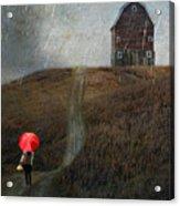 Beauty In The Silver Rain Acrylic Print