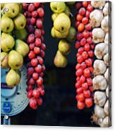 Beauty In Tomatoes Garlic And Pears Acrylic Print
