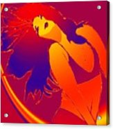 Beauty Is A Rainbow Red Acrylic Print
