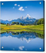 Beauty Of The Alps Acrylic Print