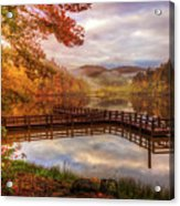 Beauty Of The Lake In Autumn Deep Tones Acrylic Print