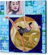 Beauty On Ice - Yu-na Kim Acrylic Print