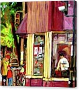 Beautys Luncheonette Montreal Diner Acrylic Print