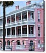 Beauutiful Pink Colonial Style Mansion Acrylic Print