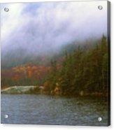 Beaver Pond Kinsman Notch Autumn Storm Acrylic Print