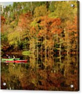 Beaver's Bend Canoeing Acrylic Print