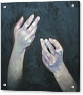 Beckoning Hands Acrylic Print by Douglas Manry