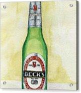 Becks Acrylic Print