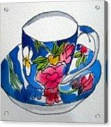 Becky's Teacup Acrylic Print