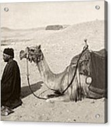 Bedouin At Prayer Acrylic Print