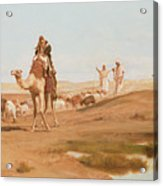 Bedouin In The Desert Acrylic Print