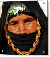 Bedouin Women Acrylic Print by Chaza Abou El Khair