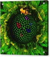 Bee Flower Acrylic Print
